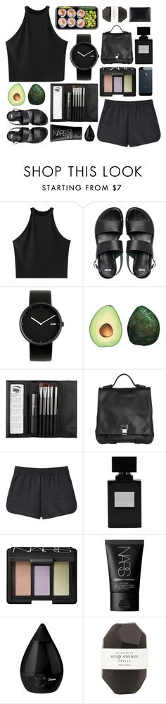 """a v o"" by sleepy-seas ❤ liked on Polyvore featuring Chicnova Fashion, ASOS, Alessi, Sephora Collection, Proenza Schouler, T By Alexander Wang, NARS Cosmetics and Pelle"