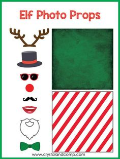 Elf on the Shelf Photo Booth Props – CrystalandComp Welcome Back Letter, Welcome Letters, Christmas And New Year, All Things Christmas, Christmas Holidays, Kids Holidays, Happy Holidays, Elf On The Self, The Elf