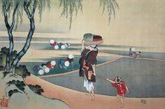 rice‐planting Hokusai 田植図(1843年) 葛飾北斎 82歳ごろ