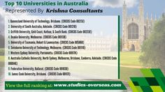 Presenting the High Ranked Universities represented by Krishna Consultants in #Australia!!!