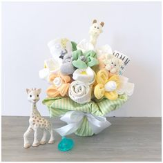 Gender Neutral New Baby Gift Bouquet - New Mom Gift - Gender Neutral Gift Basket - Washcloth Bouquet - Baby Shower Gift /Bouquet for Boy Cool Gifts For Kids, Gifts For New Moms, New Baby Gifts, Baby Bouquet, Gift Bouquet, Popular Birthdays, Baby Hamper, Gender Neutral Baby, Mo S