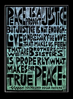 Peace is a Product of Justice