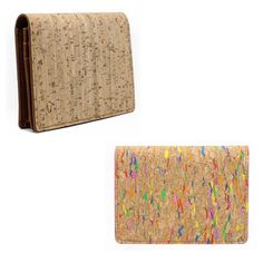 Eco-Friendly Natural Cork Applied Man/Woman ID Credit Business card holder Purse #wikitrend