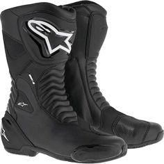 Alpinestars Mens S-MX S Black Textile Motorcycle Riding Street Racing Boots Motorcycle Riding Boots, Black Riding Boots, Black Boots, Biker Boots, Cowgirl Boots, Western Boots, Brown Boots, Ugg Australia, Stilettos