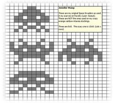 SpaceInvadersCharts.jpg | Flickr - Photo Sharing! Double knitting