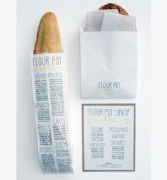 i love this idea: business info, art or a menu on the packaging