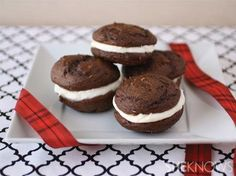 Black and white whoopie pies