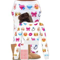 GoodMorningg by ayeeitsdessa on Polyvore featuring polyvore, beauty and UGG Australia