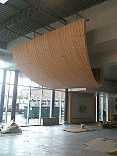 Floating Wood Ceiling Cloud