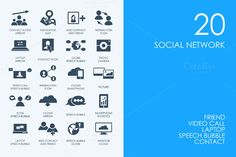 Social network icons by Palau on @creativemarket