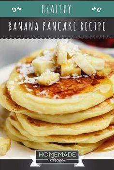 Easy Healthy Banana Pancake Recipe | Homemade Recipes | https://homemaderecipes.com/healthy-banana-pancake-recipe/