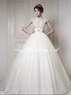 classic wedding dress ♡ love the bottom