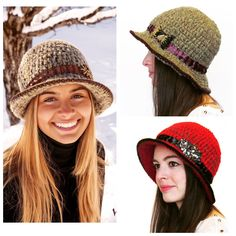 We have our version of crochet fedora hat in our store!  It's stylish and cozy.