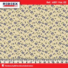 Estampa Mini Pétalas Azuis | Desenho 6001 Variante 02. Disponibilidade de Larguras e Comprimentos sob consulta!