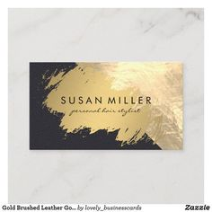 Gold Brushed Leather Golden Metallic Business Card Luxury Business Cards, Real Estate Business Cards, Elegant Business Cards, Professional Business Cards, Business Card Design, My Design, Logo Design, Graphic Design, Hairstylist Business Cards