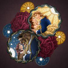 An incredible Belle and The Beast Mosaic - Walt Disney Characters Fan Art (26582037) - Fanpop