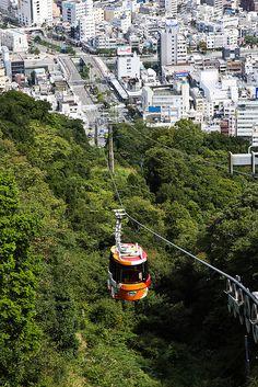Cable car, Mt Bizan #japan #tokushima