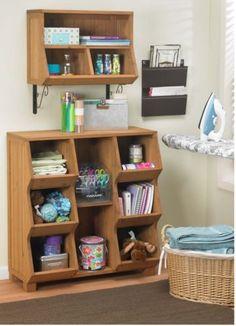 Cubby-Storage-Unit-Home-Organizer-Furniture-Wood-Multi-Purpose-Crafts-Room-Shelf