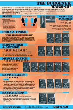 The Burgener Warm-Up Poster   WOD Gear Clothing Company