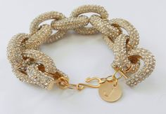 Pave+chunky+chain+bracelet+Personalized+by+BipAndBop+on+Etsy,+$75.00