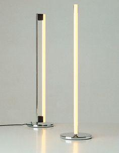 Eileen Gray; Chromed Metal Tube Lamp, 1930s.
