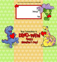 Candy bar wrapper-- http://www.photo-party-favors.com/candy-bar-Valentine-dinosaur.html