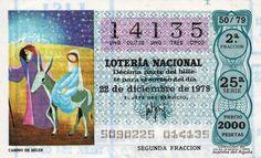 Décimo de Lotería de Navidad del año 1979 - CAMINO DE BELEN