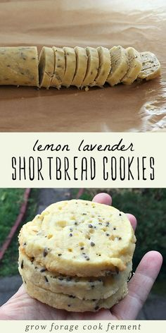These lemon lavender shortbread cookies are so delicious! They are like spring in a cookie, buttery, lemony, and slightly sweet. The lavender flavor really shines through! Yummy Treats, Sweet Treats, Yummy Food, Healthy Food, Healthy Meals, Healthy Chicken, Healthy Eating, Lavender Shortbread, Lavender Cake