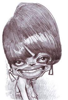 Artist:Jan Op De Beeck Caricature:Diana Ross