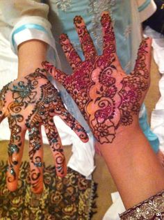 Beautiful henna at a beautiful party.