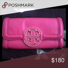 Brand New Tory Butch Wallet This was an impulse buy and I still have not used it to date . There are plenty of card holders for your everyday necessities, and this color definitely turns heads! You need this in your Tory Collection  Tory Burch Bags Wallets