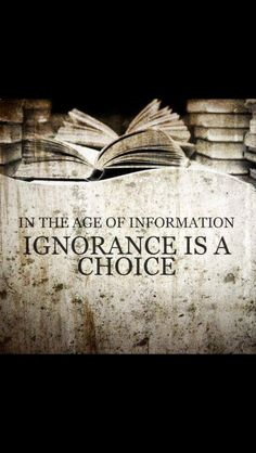 In the age of information . . . .
