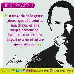 #felizLunes Las lecciones de Steve Jobs!!! La importancia de un buen diseño... #levyapolinar #socialmedia