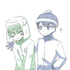 Cute Style (Stan x Kyle) Pics. I don't own any of these pictures. Stan South Park, Kenny South Park, Creek South Park, South Park Anime, South Park Fanart, Kyle Broflovski, Stan Marsh, Me Anime, Park Art