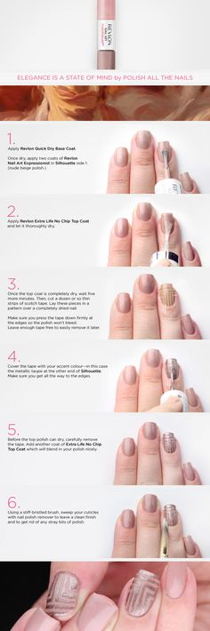 Step-by-step guide to do nude art deco nails!