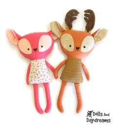 Deer Softie Stuffed Toy PDF Sewing Pattern | Dolly Donations