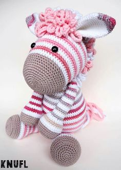 This is a crochet pattern, NOT a finished product! If you buy the pattern for donkey Alex, you receive the modification pattern for Zoe zebra for free. The pattern for Zoe zebra is a color variation of donkey Alex. The pattern for donkey Alex consists of Crochet Amigurumi Free Patterns, Crochet Animal Patterns, Stuffed Animal Patterns, Crochet Animals, Crochet Dolls, Doll Patterns, Knitting Patterns, Stuffed Animals, Crochet Zebra