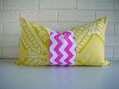 Accent Pillow Decorative Throw Lumbar Girly by habitationBoheme, $25.00