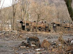 old locomotives in former scrap yard - Roanoke, Virginia by Retronaut, via Flickr