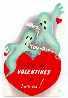 Valentines are explored in this lovesick episode of Boys and Ghouls. From the original My Bloody Valentine to The St. Valentine's Day Massacre to heartthrob, Scott Valentine. My Funny Valentine, Valentines Day Greetings, Vintage Valentine Cards, Little Valentine, Vintage Greeting Cards, Vintage Holiday, Valentine Day Cards, Birthday Greetings, Vintage Halloween