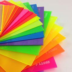 """Linha """"F"""" - Neon Fluor Sinteglas / Opacas / Translucidas e Transparentes"""