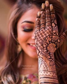 Stunning Indian Brides | Photo Source - Credits: Wed Capture | Bridal Portrait | Mehendi inspiration | Bridal Henna ideas | Henna Tattoos | Henna Artist | Floral motifs | Hand henna ideas | Mehendi for brides | Poses for bridal photoshoot | Bridal photo shoot ideas | Indian Wedding Photographers | Wedding Photography | more mehendi inspiration on the blog :) link below