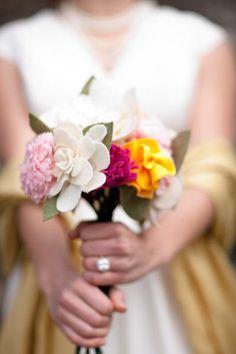 DIY - Felt Bouquet and Bout! - The Bride's Cafe