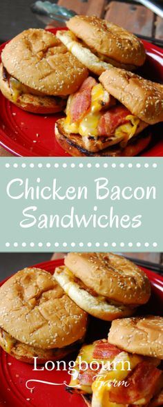 These Chicken Bacon Sandwiches are so easy to make! This family friendly meal is sure to please your entire family. Easy meal, delicious meal, hard to beat!