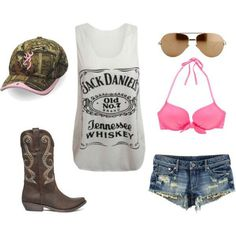 Country girl style [I want that shirt, shorts, & Hat<3]