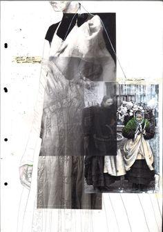 Getting to know Fashion Folio students at Central Saint Martins - Fashion Sketchbook – fashion drawing; Fashion Portfolio Layout, Fashion Design Sketchbook, Fashion Sketches, Portfolio Design, Portfolio Ideas, Fashion Drawings, Fashion Illustration Collage, Fashion Collage, Fashion Art