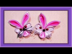 Small animals for the children to their rukami.Podelki detey.Podelka bunny ribbons. - YouTube