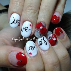 Valentines nails :]