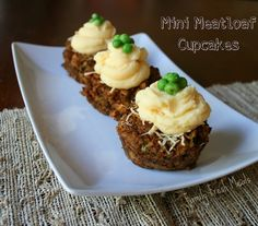 Quick & Easy Mini Meatloaf Cupcakes (with vegetarian option) .  I love this idea , but will use my own meatloaf recipe. I bet these would freeze and reheat well.
