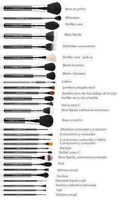 There are a lot of people who nowadays are applying cosmetics using their fingers, in my opinion it looks a lot better if applied using a make-up brush. This article describes the reasons for this and looks at the types of make-up bru Makeup Brush Uses, Makeup 101, Makeup Guide, Love Makeup, Makeup Tools, Skin Makeup, Makeup Inspo, Makeup Ideas, Amazing Makeup